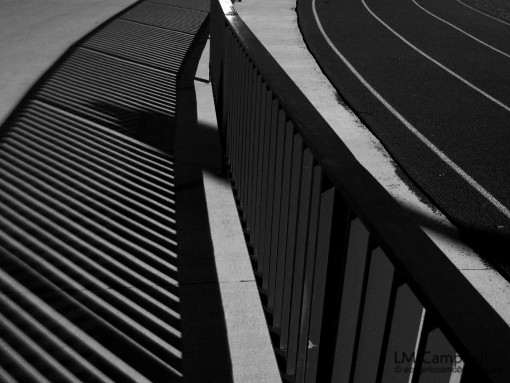 Shadows and lines by the Queen's track