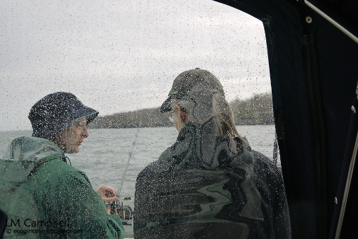 IJNR Fellows fishing in the rain