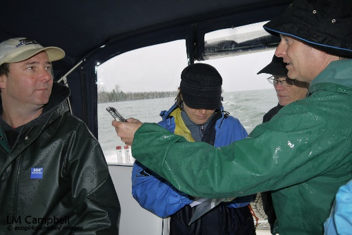 "IJNR fellows interviewing Captain ""Megabite"""